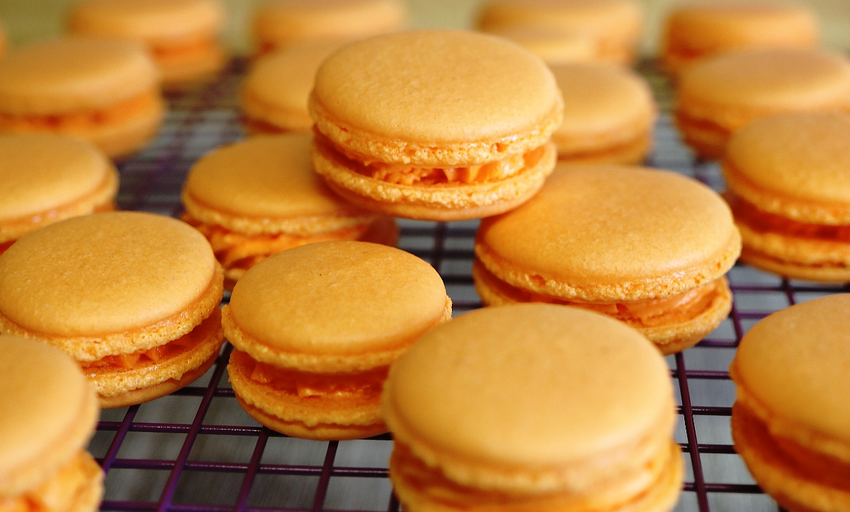 Orange Macarons Recipe & Video Tutorial